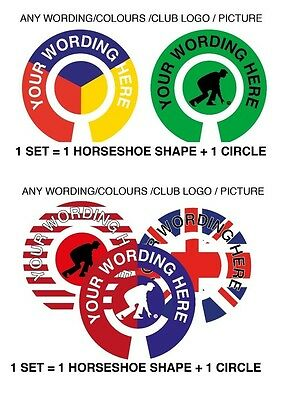 "6 SETS PERSONALISED BOWLS STICKERS 1"" LAWN BOWLS / FLATGREEN & INDOOR BOWLS"