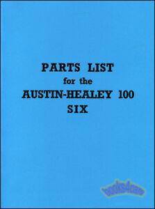 AUSTIN HEALEY 100-6 PARTS MANUAL BOOK SHOP SERVICE REPAIR PARTS LIST 100 SIX