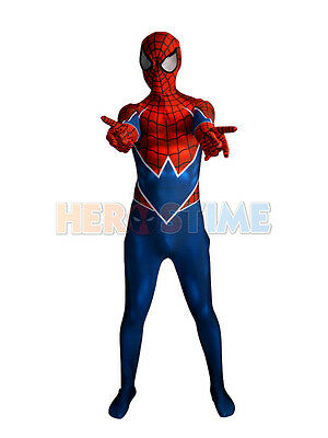Spider-Punk Costume 3D Printing Spandex Spider-man Costume For Adult/Kids