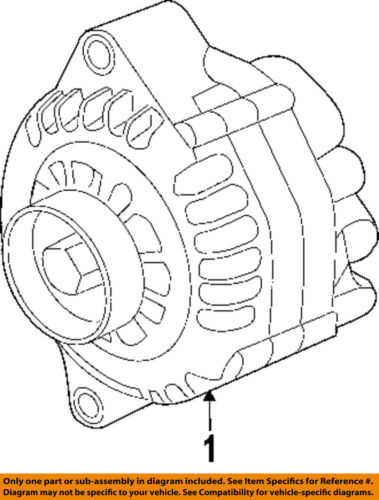 Pontiac Gm Oem 05 06 Gto Alternator 92211821
