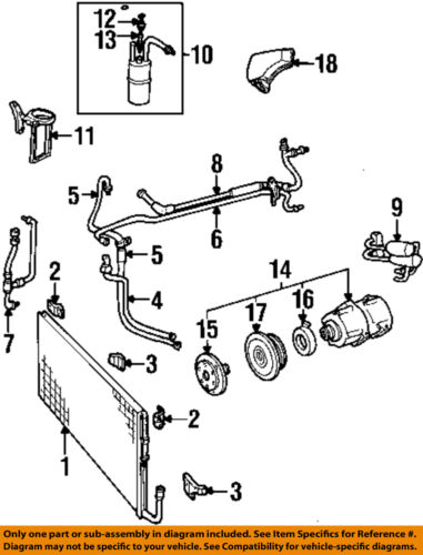 Ford Oem A  C Compressor Low Pressure Charge Port F3az
