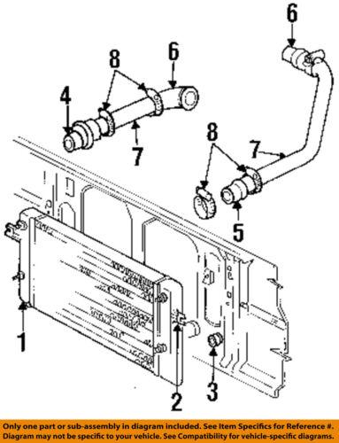 details about dodge chrysler oem 97-98 ram 3500 5 9l-l6 intercooler-hose  52028570