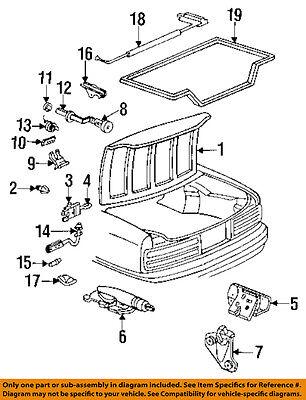GM OEM-Trunk Lid Bumper 10103036
