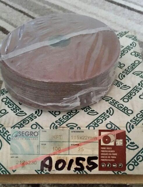 SEGRO Resin Bonded Fibre Disc 115mm x 22mm x P80 (Pack of 25)