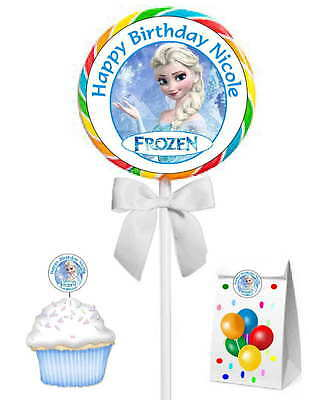 40 FROZEN ELSA BIRTHDAY PARTY FAVORS STICKERS ~ for goody bags, lollipops, etc - Frozen Goodie Bags