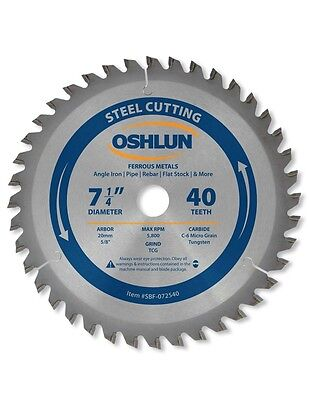 "OSHLUN  SBF-072540  7-1/4"" x 40T Steel Cutting Saw Blade"