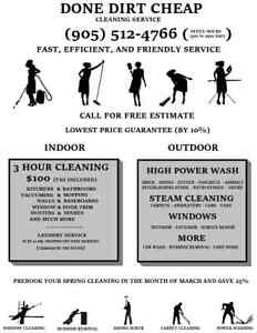 DONE DIRT CHEAP Cleaning service