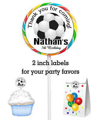 20 SOCCER BIRTHDAY PARTY FAVORS STICKERS LABELS FOR YOUR PARTY FAVORS