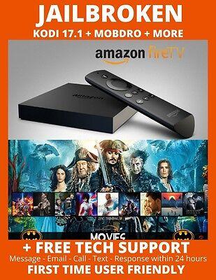 JAlLBROKEN AMAZON FIRE TV BOX 4K ULTRA HD - 17.4 Tv Movies Sports