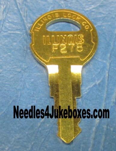 1 1963-86 Seeburg Jukebox Key F278 F330 F336 F205 F291 F293 S102 F333 F723 G440