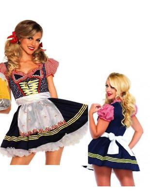 Beer Stein Babe Swiss Alps German Oktoberfest Halloween Adult Womans Costume N8