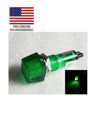 5 X New 12v Led Green Indicator Pilot Light 10mm 5 Pieces Lot Usa Seller