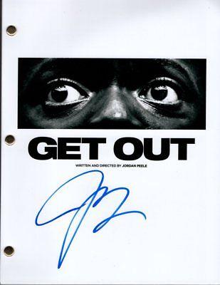 Jordan Peele Signed Autographed Get Out Script