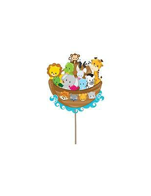 Noah's Ark Theme Cupcake toppers Baby Shower Picks Party Decorations ](Noah's Ark Baby Shower Theme)