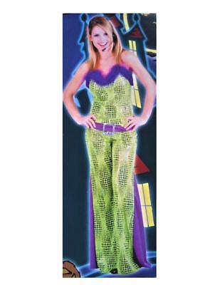 Rock Star Costume Women (Fun Rock Star Green Party 70's Disco Adult Women 2 pc Costume )