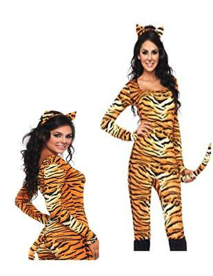 Sexy Wild Tigress One Piece Catsuit Adult Costume - Wild Tigress Kostüm