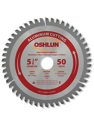 Oshlun Sbnf-054050 5-38 50 Tooth Tcg Aluminum Cutting Saw Blade
