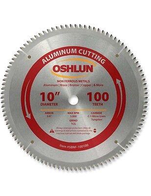 Oshlun Sbnf-100100 10 X 100t Aluminum Cutting Saw Blade