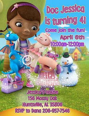 12 Custom Doc McStuffins Birthday Invitations ~ Style #4~ by The Notecard Lady](Doc Mcstuffins Custom Invitations)