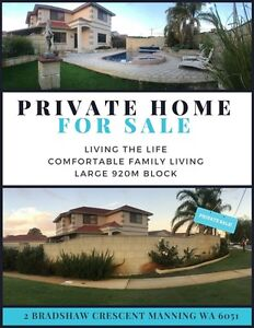 Living the life. Comfortable family home on large block Manning South Perth Area Preview