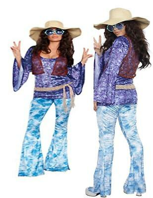 60's Hippie Wild at Woodstock Janis Joplin Adult Womens Costume N29