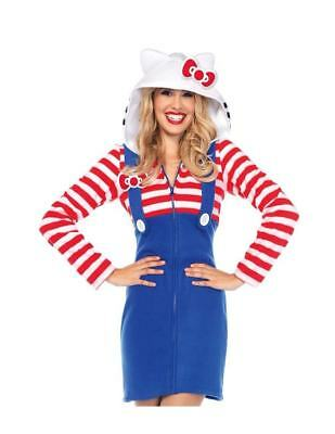 Hello Kitty Cozy Anime Dress Teen Adult Costume Cosplay 2 sizes Leg - Hello Kitty Cosplay Kostüm
