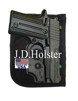 Gun Concealment Holster BLACK DOUBLE-SIDED POCKET/PURSE - Turas TCP 380,738 - Gun Holster Purse