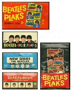 VINTAGE-BEATLES-MEMORABILIA-SET-2-PHOTO-FRIDGE-MAGNETS