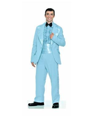 Baby Blue 70's Prom King Tuxedo 50's Retro Tux Sock Hop Theme Std Costume N29