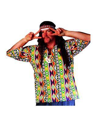 60's Hippie Shirt Plus Size Adult Unisex 42 - 50  Theme Party Wedding N28 (N Themen Kostüm Party)
