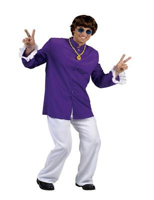 60's Swinger Groovy Guy Purple Austin Powers Nehru Adult Unisex Costume - Austin Powers Costume