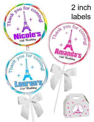20 PARIS EIFFEL TOWER BIRTHDAY PARTY FAVORS STICKERS LABELS for PARTY - Eiffel Tower For Party