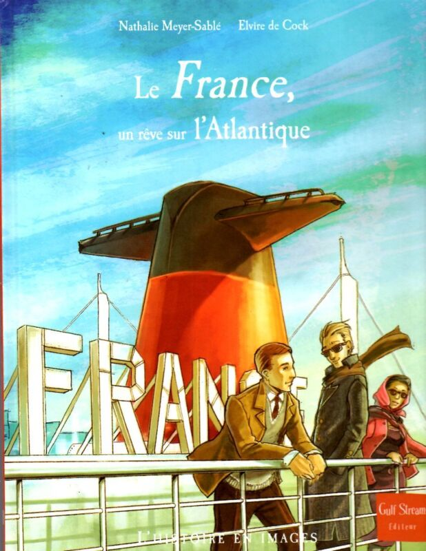 ss FRANCE 1962 CGT French Ocean Liner Picture History Original Art Book ssNorway