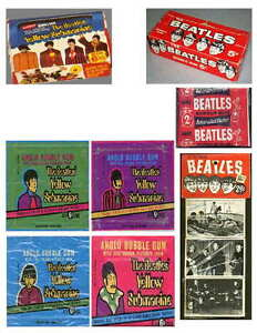 VINTAGE-BEATLES-MEMORABILIA-SET-3-PHOTO-FRIDGE-MAGNET