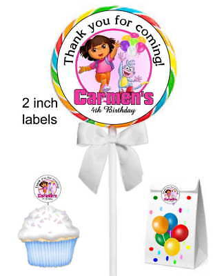 20 DORA THE EXPLORER BIRTHDAY PARTY FAVORS STICKERS LABELS FOR YOUR PARTY FAVORS