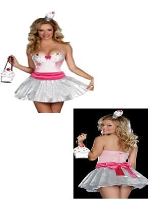 Cupcake Cutie Glamour Party Girl Teen Adult Costume XS & S Dreamgirl N30
