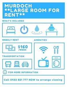 MURDOCH - LARGE COMFORTABLE SINGLE Rooms Available Murdoch Melville Area Preview