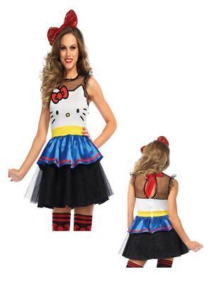 Darling Hello Kitty Anime Dress Teen Adult Costume Cosplay 4 sizes Leg - Hello Kitty Cosplay Kostüm