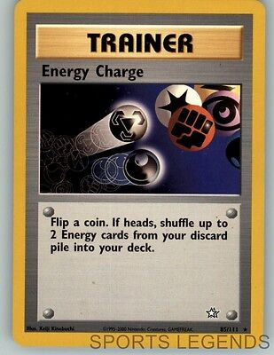 2000 Pokemon Neo Genesis Rare Energy Charge 85 111