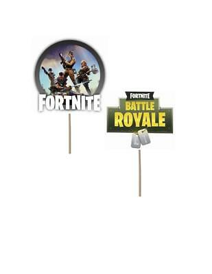 Fortnite theme Birthday Cupcake toppers fortnite birthday fortnite decorations (Cupcake Birthday Theme)