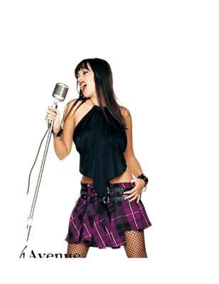 Sexy Rock Star Girl 2 pc Top Skirt - Party Rock Girl Kostüm