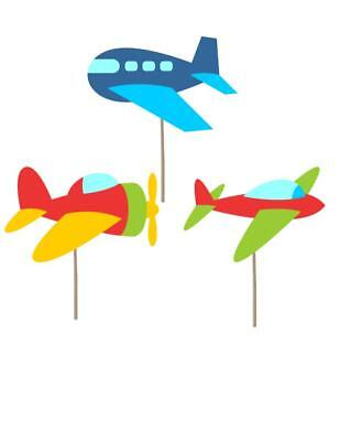 Airplane Themed Birthday Party (Airplane Birthday cupcake toppers, airplane theme, airplane decorations,)