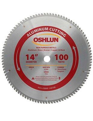 Oshlun Sbnf-140100 14 X 100t Aluminum Cutting Saw Blade