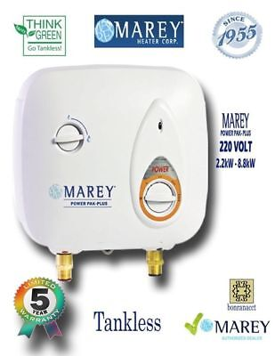 Water Heater Electric Tankless 3 GPM 220V Best Tiny House Marey PP220