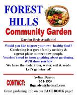 FOREST HILLS COMMUNITY GARDEN Has Free Plots Available