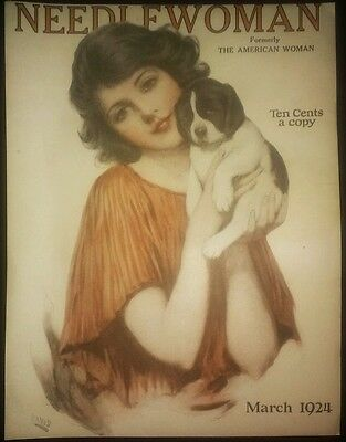 """12-OLD ANTIQUE MAGAZINE COVER ART PRINTS FROM 1920'S. """"LOOK AT THESE"""""""