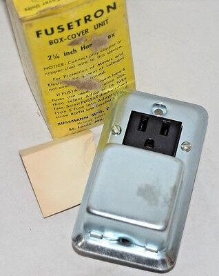 Lot Of 3 Fusetron Box-cover Unit Sru - 2 14 Inch Handy Box
