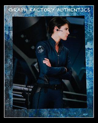 Gfa The Avengers  Age Of Ultron  Cobie Smulders  Signed 11X14 Photo Mh1 Coa