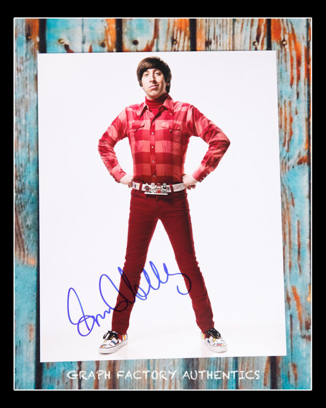 **GFA The Big Bang Theory *SIMON HELBERG* Signed 11x14 Photo MH1 COA**