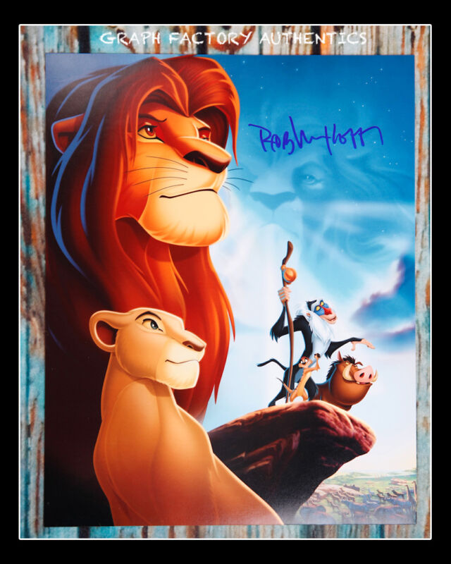 **GFA The Lion King *ROB MINKOFF* Signed 11x14 Photo Poster MH2 PROOF COA**